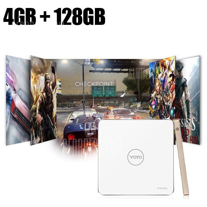 GearBest / Voyo V3 Mini-PC (QuadCore, 4GB, 128GB SSD, Windows 10) für 153,05€