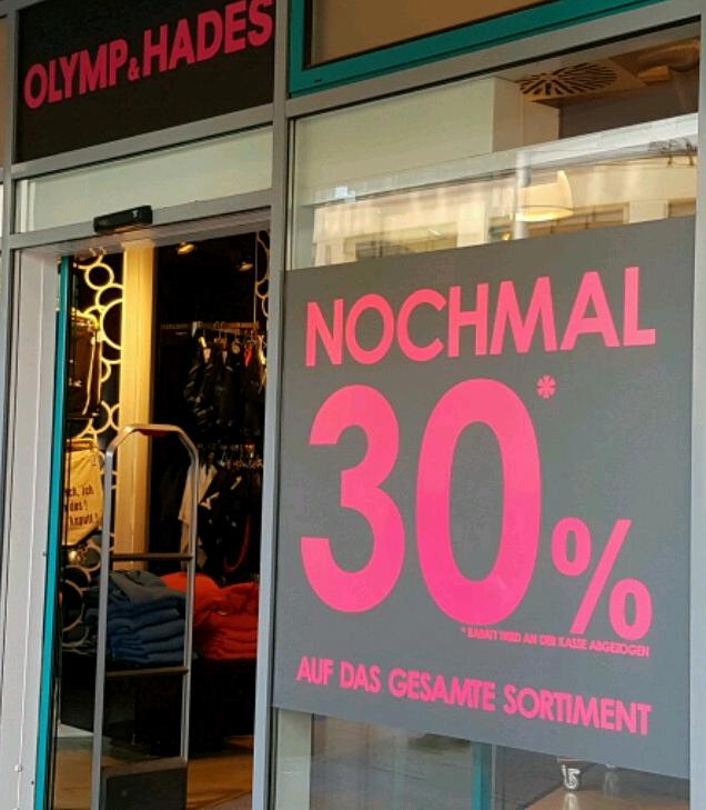 [Lokal Schwerin] Ausverkauf bei Olymp & Hades Marienplatz - 30% auf alles