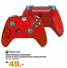 [Lokal Saturn Augsburg] Microsoft Xbox One S Wireless Controller Gears of War 4 Crimson Omen Limited Edition für 49,-€