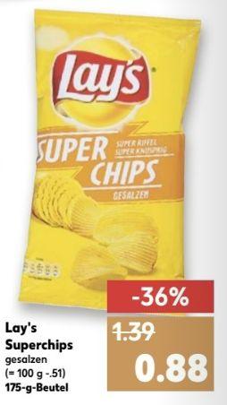 [Kaufland ab 01.12 Bundesweit] Lays Super Chips-Gesalzen, 175g Beutel für nur 0,88€