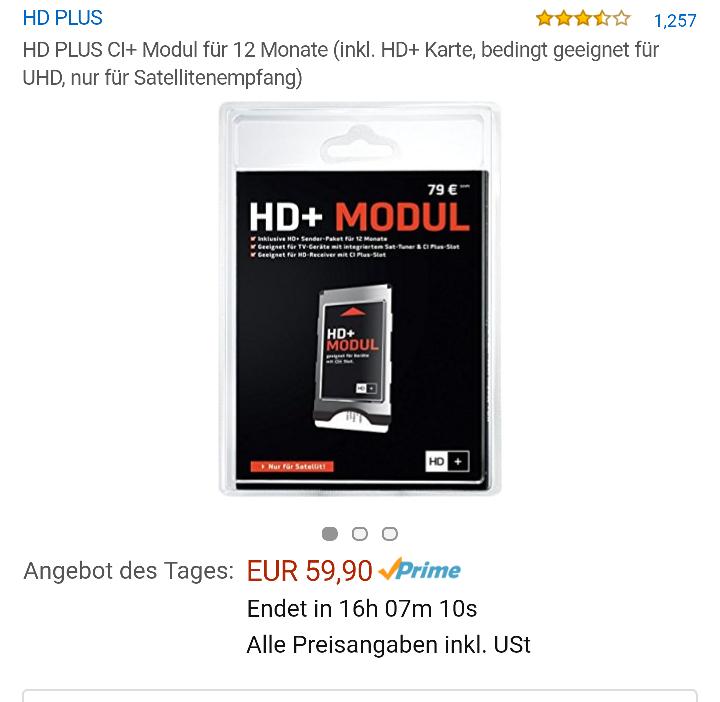amazon - HD+ Modul mit 12 Monaten HD