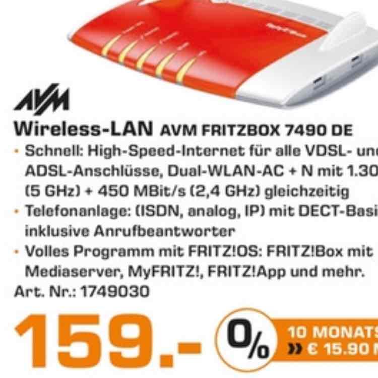 Saturn Hannover und Isernhagen: Fritzbox 7490 für 159 Euro
