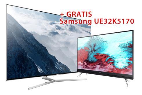 """[0815.eu] 55"""" Samsung UE55KS8080 / 4K / Quantum dot / HDR + 32"""" Samsung UE32K5170 / FHD -> gratis dazu!"""