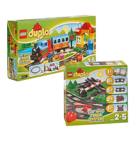 20% Rabatt auf Lego Duplo bei [GALERIA Kaufhof] z.B. Set aus Eisenbahn (10507) und Zubehör (10506) für 39,99€ bei Abholung, statt ca. 58€