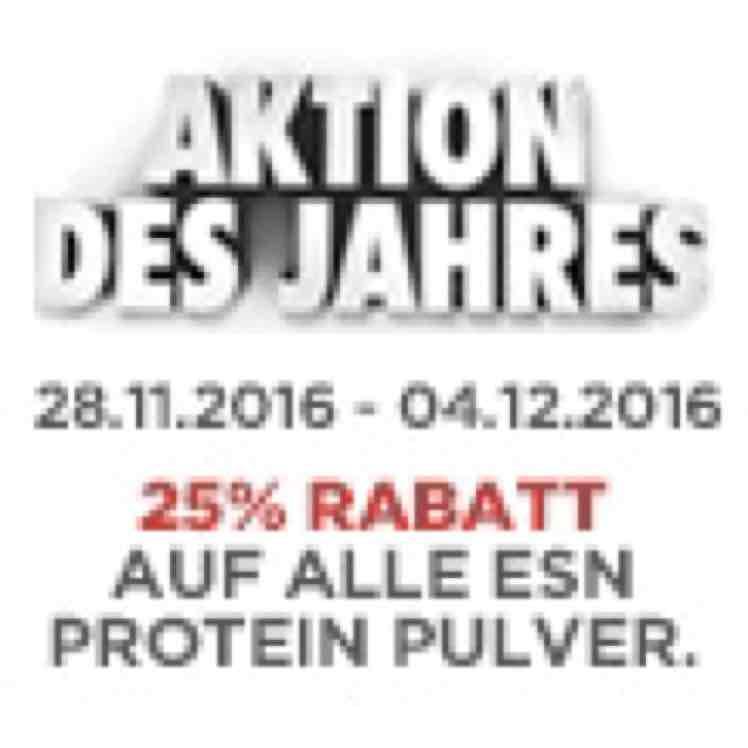 25% auf alle ESN Protein Pulver bei Team Andro