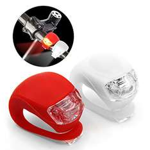 LED FahrradBeleuchtung (1 weiße & 1 rote Leuchte) inkl. Batterien für 5,49€