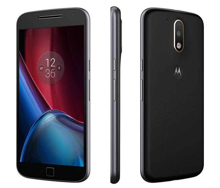 Moto G4 Plus LTE + Dual-SIM (5,5'' FHD IPS, Snapdragon 617 Octacore, 2GB RAM, 32GB eMMC, 16MP + 5MP Kamera, Fingerabdruckscanner, kein Hybrid-Slot, 3000mAh mit Quickcharge, Android 6 -> 7) inkl. Premium-Cover für 229€ [Motomaker]
