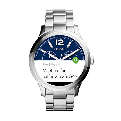 [Amazon] Fossil Q Founder Smartwatch silber mit Gliederarmband silber (FTW20002P)
