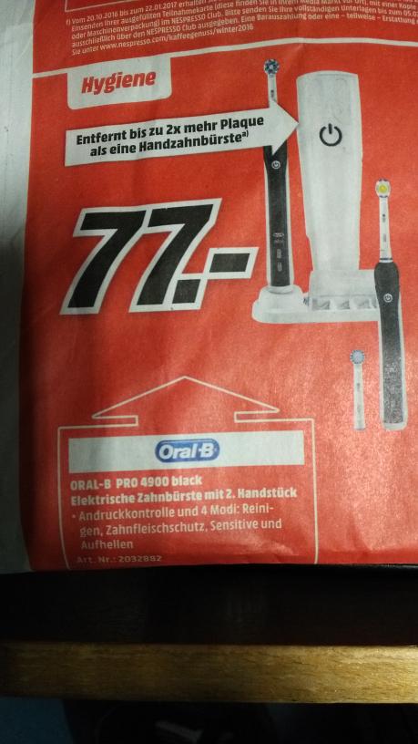 Oral B Pro 4900 mit 2 Handstücken