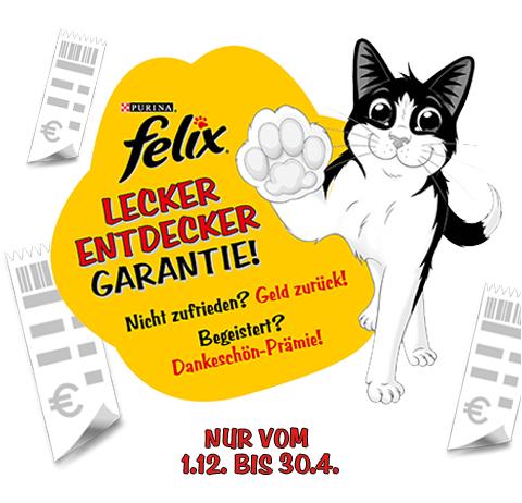 GZG - Felix Katzenfutter Geld zurück Garantie oder Sammelprämie