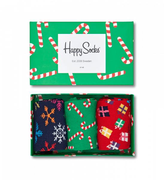 Geschenkideen zur Bescherung - Happy Socks Holiday Dot Gift Box für 9,98€ inkl. Versand statt 23,50€ bei Volution Sports