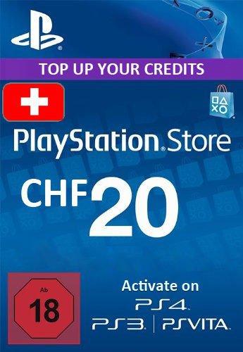 Playstation Network Card 20 CHF für Schweizer PSN
