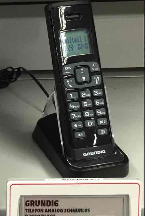 [Media Markt Köln Hohe Str.] Schnurlos Telefon Grundig D 3140