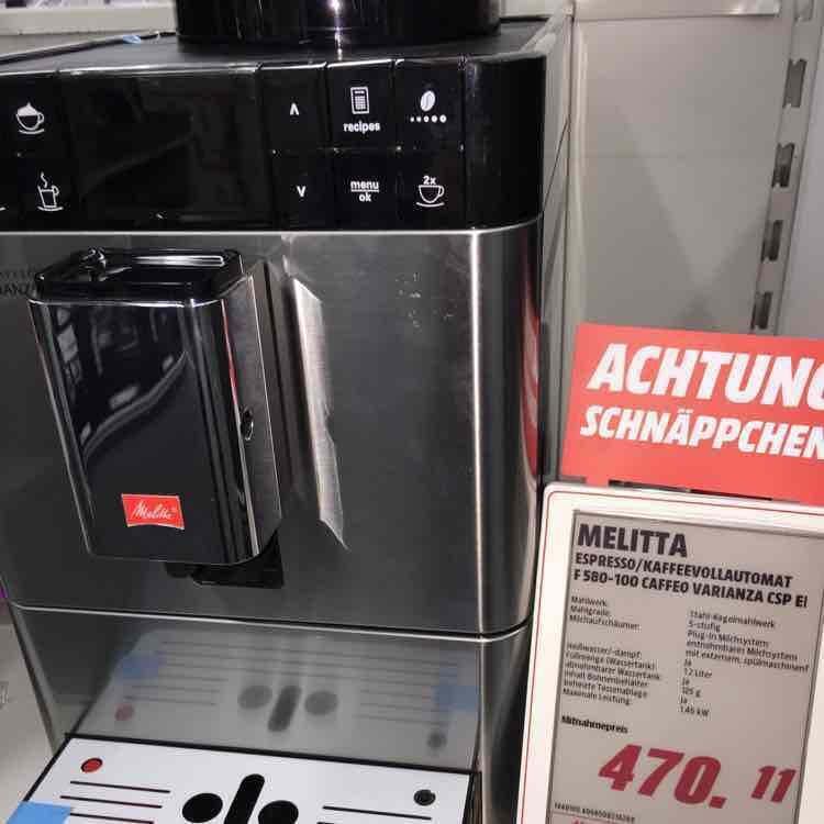 [Mediamarkt HH Altona] Melitta Kaffeevollautomat F 580-100 Cafeo Varianca CSP