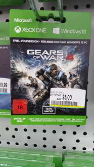 [Lokal Frankfurt Saturn Zeil] GEARS OF WAR 4 KEY XBOX ONE + WINDOWS 10 für 25€