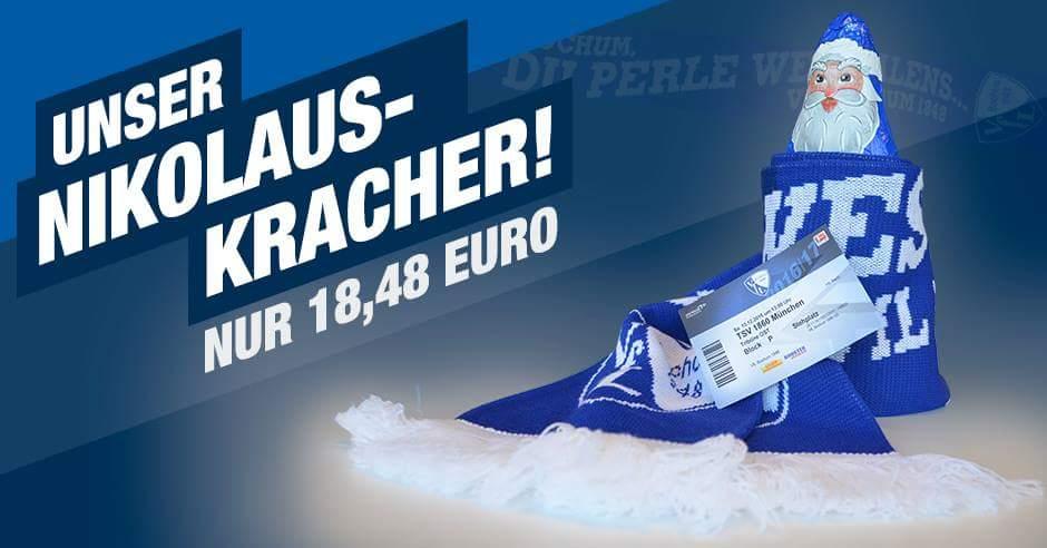Schal, Eintrittskarte und Nikolaus von VFL Bochum