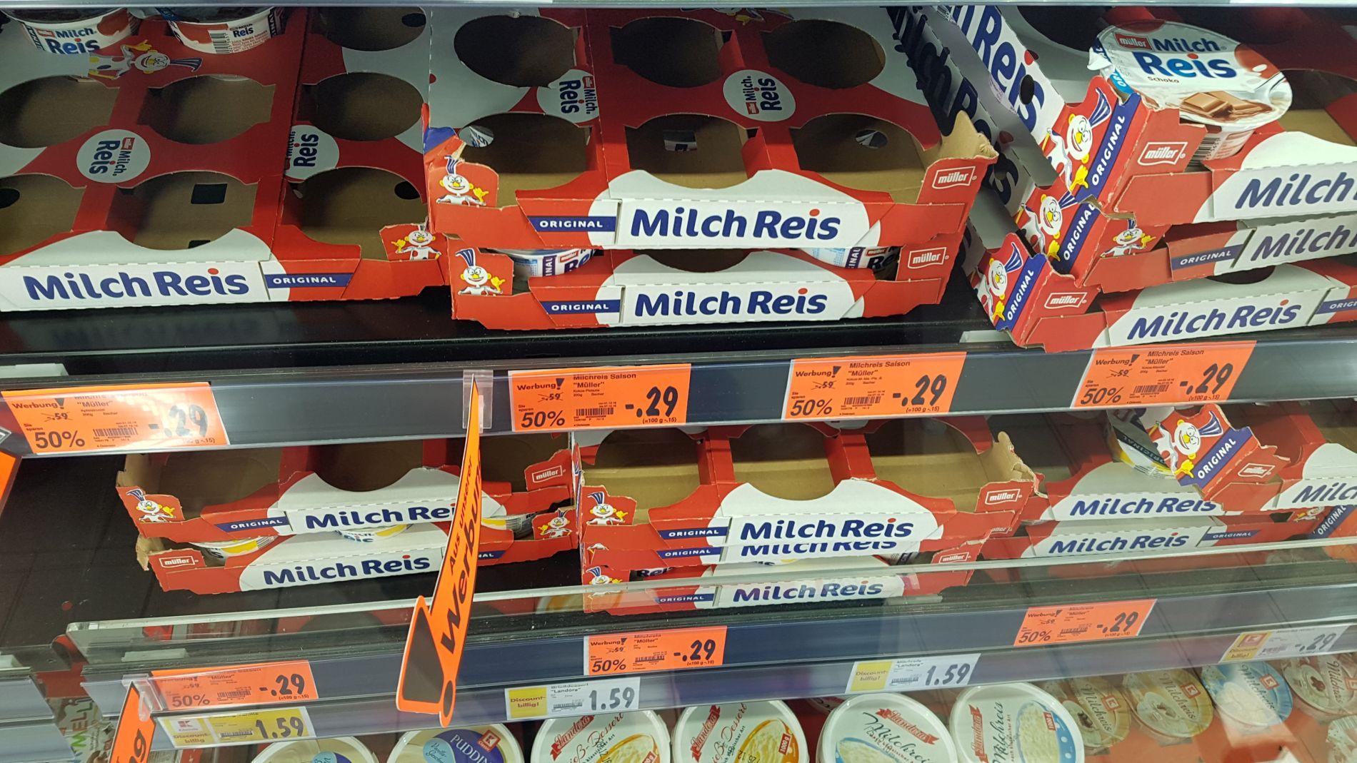 (KAUFLAND NEUSS LOKAL) Müller Milch Reis, Zott Sahneyoghurt, Rougett Ofenkäse versch. Angebote ab 0,19€