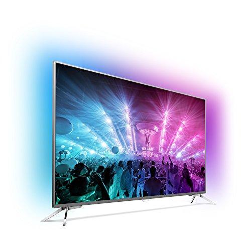 Philips 75PUS7101/12 190,5 cm (75 Zoll) Ultraflacher Android 4K-Fernseher (3-seitigem Ambilight und PixelPrecise Ultra HD)