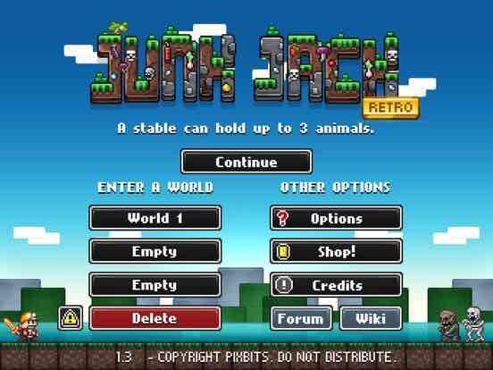 """[iOS] """"Junk Jack Retro"""" von Pixbits 2D Sandbox Game erstmalig gratis"""