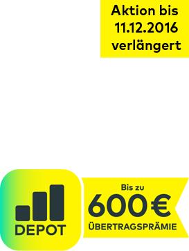 [comdirect] Bis zu 600 € Depot-Übertragsprämie + 60 € Cashback über shoop.de