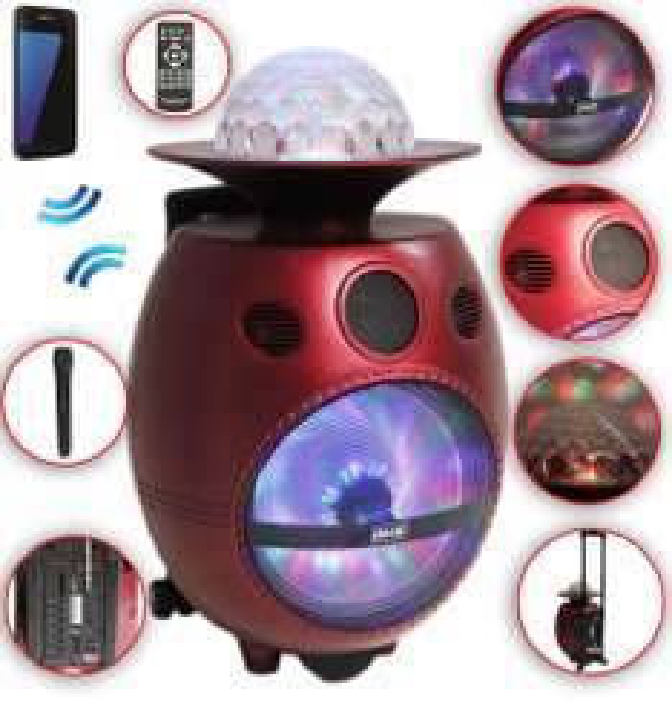 Lautsprecher Pilz Ufo Box Mit Blutooth Karaoke-Player Trolley @ebay