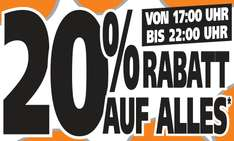 [Globus-Baumarkt Wiesental] 20% Rabatt beim Moonlight Shopping