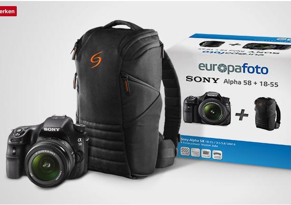 Sparset... Sony Alpha 58 Kit mit 18-55mm + Rucksack