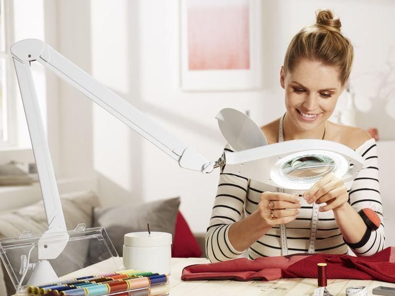[LIDL]  LED-Lupenleuchte, 120 mm-Glaslinse mit ca. 2,25-facher Vergrößerung für 34,99 Euro