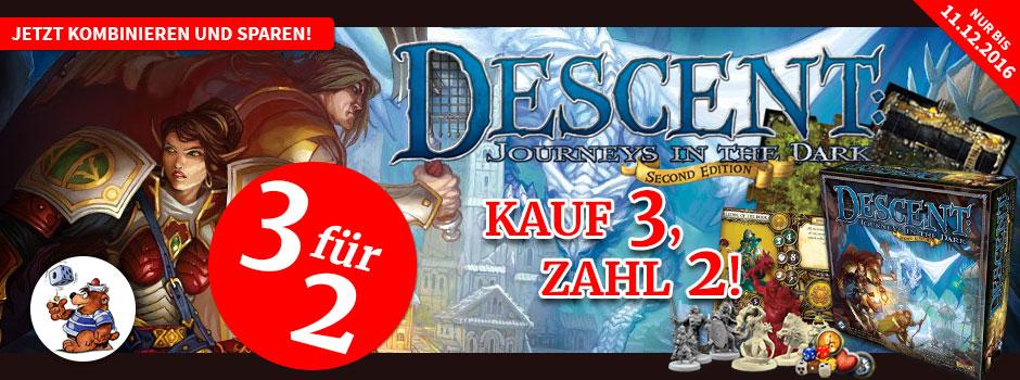 Spieleoffensive Descent Kauf 3 Zahl 2 - Aktion für 65€ statt idealo 97€ nach meinem Kaufbeispiel