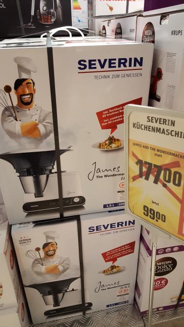Beim REWE Center Frankfurt Griesheim: SEVERIN KÜCHENMASCHINE KM 3895 (Lokal)