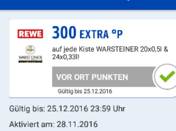 Warsteiner 3€ sparen durch Payback (Rewe)