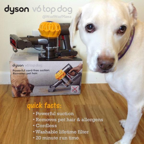 Dyson V6 Top Dog Akkusauger (für Haushalte mit Haustieren) - sehr starker Motor, 20 min Akkulaufzeit, hygienische Behälterentleerung 169,90€ statt 228€