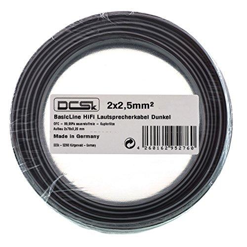 [Amazon Blitzangebot] Lautspecherkabel (OFC/Vollkupfer) von DCSk in verschiedenen Längen und Durchmessern