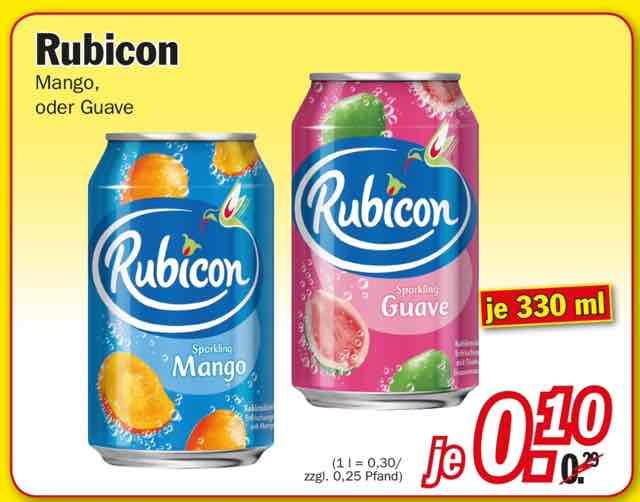 [Zimmermann] Rubicon Mango oder Guave 330ml 0,10€ +0,25€ Pfand