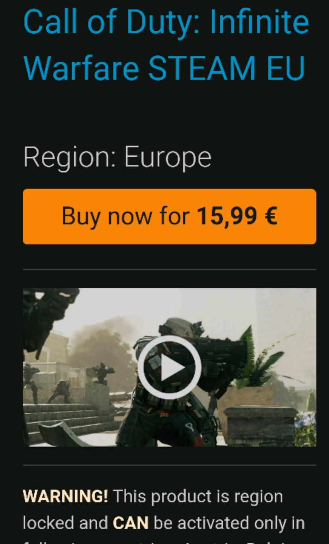 COD Infinite Warfare Steam Key