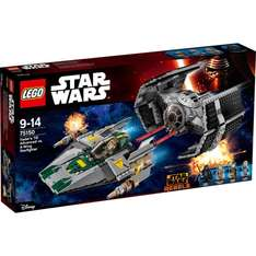 Lego Star Wars - Vader's TIE Advanced vs. A-Wing Starfighter (75150) @zackzack 59,90€