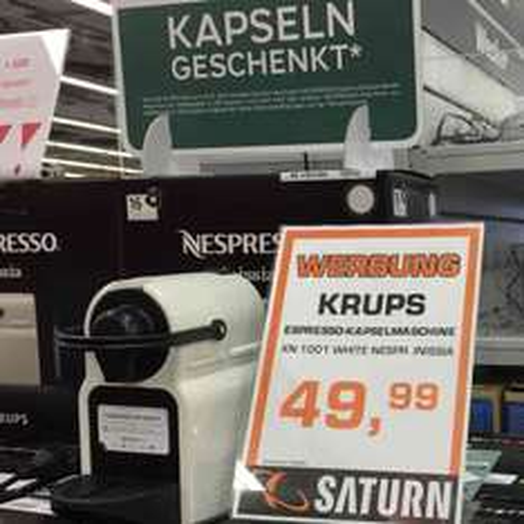SATURN NEU-ISENBURG Nespresso Krups Inissia XN 1001 für ca. 13 €