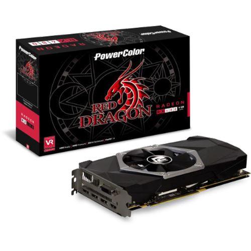 4GB PowerColor Radeon RX 480 Red Dragon Single Fan Aktiv PCIe 3.0 x16 (Retail)