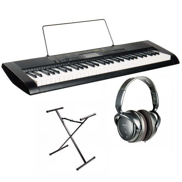 Casio CTK-1100 Keyboard mit Kopfhörer, Ständer und Adapter (musicstore.de)