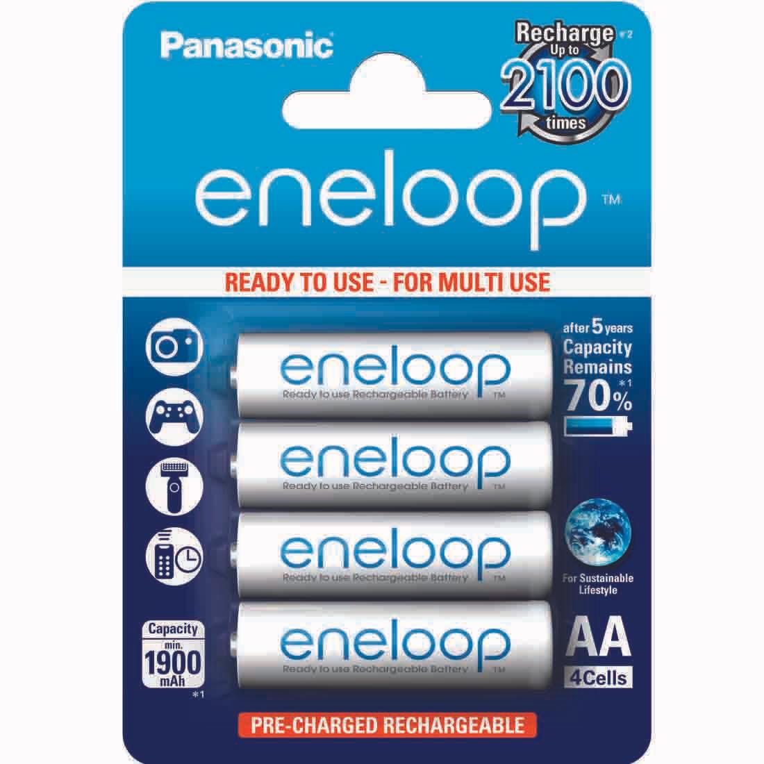 1,33€/Stück: 48 Stück AA Panasonic Eneloop (Mignon) 2000mAh Ready2Use Akkus mit geringer Selbstentladung - aktuellstes Modell [rakuten/masterpass]