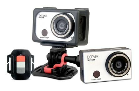 [Hitmeister] Denver FULL HD Action Kamera, Action-Cam, wasserdicht bis 55 m, stoßfest, 1080p, WiFi, integriertes Mikrofon, silber; AC-5000W