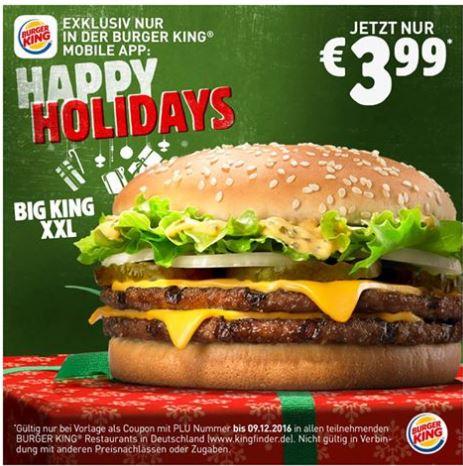 [Burger King App] Big King XXL für 3,99€