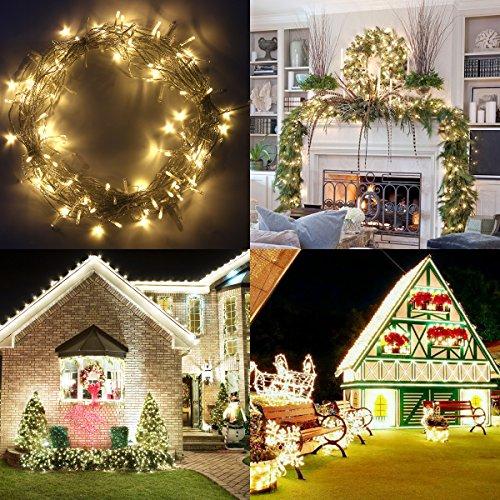 Warmweiße 200er LED Lichterkette für Deco oder Weihnachtsbaum für 10,99€ Amazon Prime Energieklasse A+++
