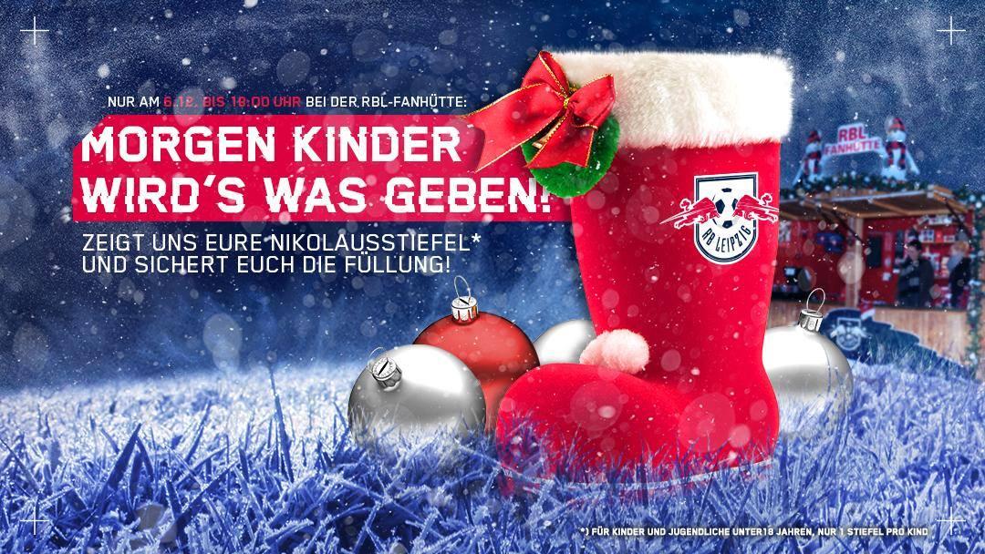 [Lokal Leipzig] RB Leipzig befüllt Stiefel auf Weihnachtsmarkt für Kinder bis 18j