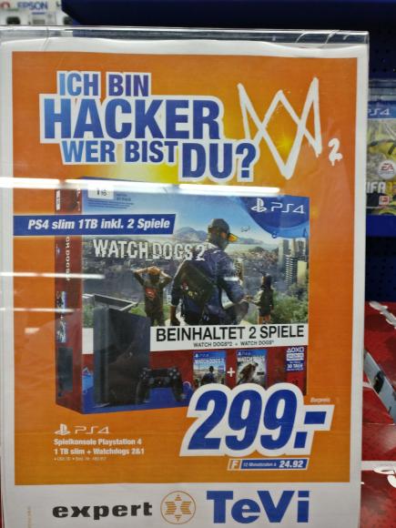 [Expert Tevi Markt Schwabach] PS4 Angebot + Watchdogs 1& 2
