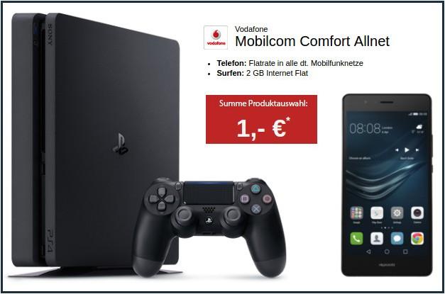 |Logitel| Allnet Flat + 2GB Surf Flat + Huawei P9 Lite Dual-SIM + Playstation 4 Slim 1TB für 1 € für 29,99€ pro Monat