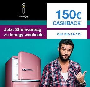 (Shoop) innogy: 150€ Cashback + 100€ Bonus für Stromabschluss als Neukunde bei innogy