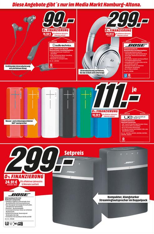 Lokal Media Markt Hamburg Altona / Bose SoundTouch® 10 Wireless Music System 2 Stück für nur 299€