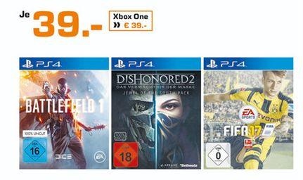 [Lokal Saturn Stuttgart/esslingen] Battlefield 1 (PS4 und Xbox One), Fifa 17 (PS4 und Xbox One) für je 39,-€