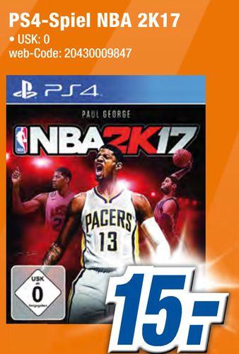 [Lokal Expert Gröblinghoff Xanten ab 08.12] NBA 2K17 - PlayStation 4 für 15,-€